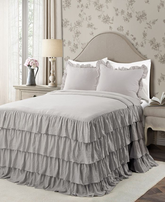 Lush Décor - Allison Ruffle Twin XL 2-Piece Bedspread Set