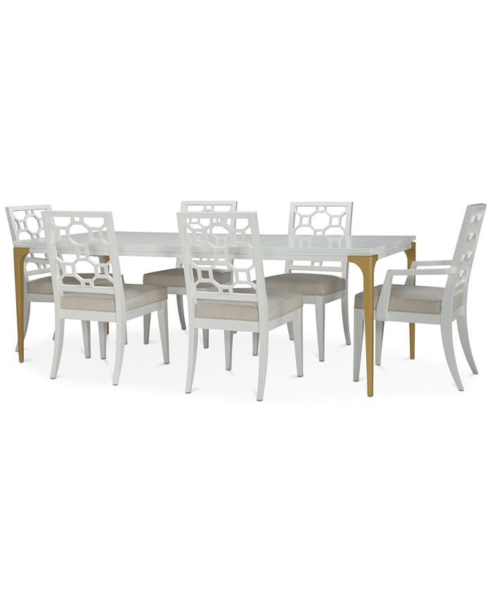 Furniture - Chelsea Expandable Dining , 7-Pc. Set (Table, 4 Side Chairs & 2 Arm Chairs)