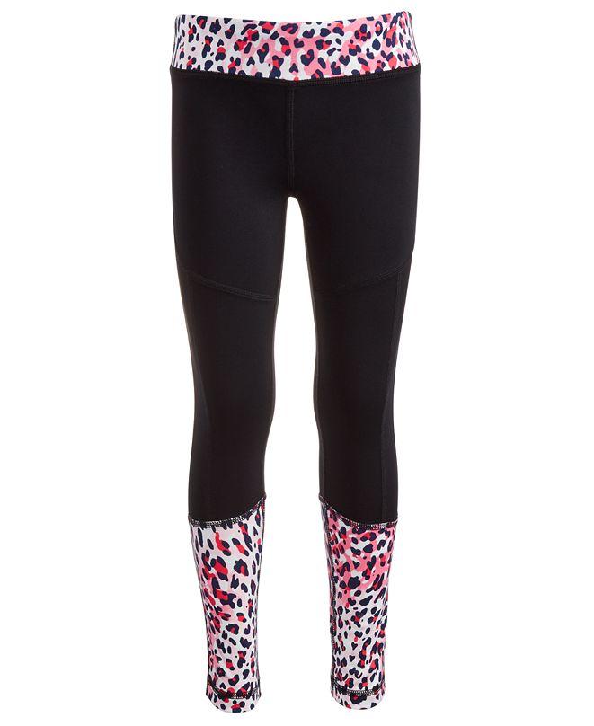 Ideology Big Girls Colorblocked Animal-Print Leggings, Created for Macy's