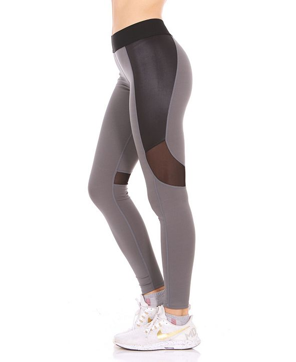 Therapy Faux Leather Insert Leggings