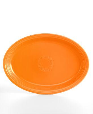 "Fiesta Tangerine 19"" Oval Serving Platter"