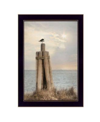 Birds Eye View By Lori Deiter, Printed Wall Art, Ready to hang, Black Frame, 14