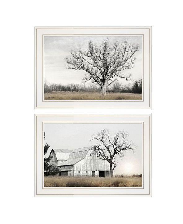 "Trendy Decor 4U Ohio Fields I 2-Piece Vignette by Lori Deiter, White Frame, 21"" x 15"""
