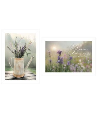 Bloom Where You are Planted by Lori Deiter, Ready to hang Framed Print, White Frame, 21