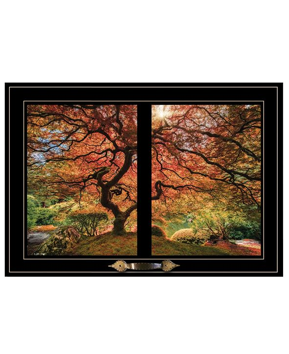 "Trendy Decor 4U First Colors of Fall I by Moises Levy, Ready to hang Framed Print, Black Window-Style Frame, 21"" x 15"""