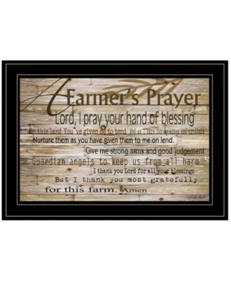 A Farmer's Prayer by Cindy Jacobs, Ready to hang Framed Print, Black Frame, 21