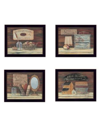 Bathroom Collection II 4-Piece Vignette by Pam Britton, Taupe Frame, 56