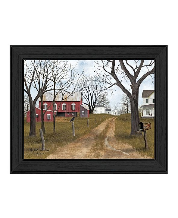 """Trendy Decor 4U The Old Dirt Road By Billy Jacobs, Printed Wall Art, Ready to hang, Black Frame, 18"""" x 14"""""""