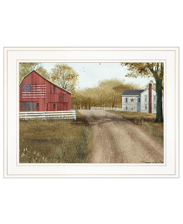 "Trendy Decor 4U Summer in the Country by Billy Jacobs, Ready to hang Framed Print, White Frame, 19"" x 15"""