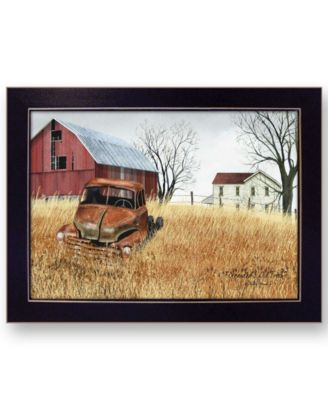 Granddad's Old Truck by Billy Jacobs, Ready to hang Framed Print, Black Frame, 21