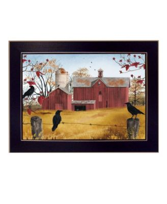 Autumn Gold By Billy Jacobs, Printed Wall Art, Ready to hang, Black Frame, 18