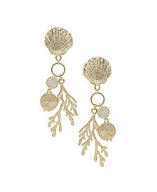 ETTIKA Seaside Shell Coral Earrings