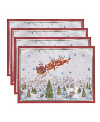 Santa's Snowy Sleighride Placemat, Set of 4