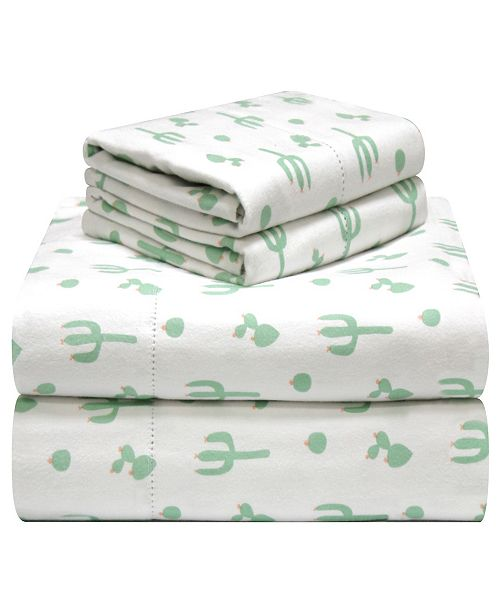 Pointehaven Printed Flannel Sheet Sets Reviews Sheets Pillowcases Bed Bath Macy S
