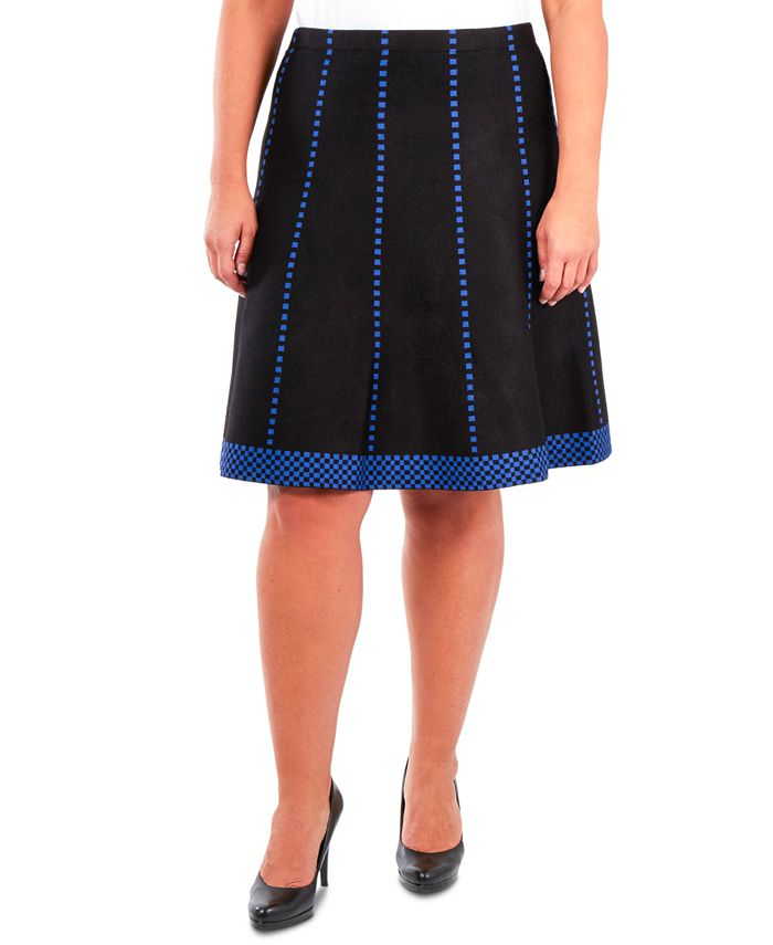 NY Collection - Plus Size Fit & Flare Pull-On Skirt