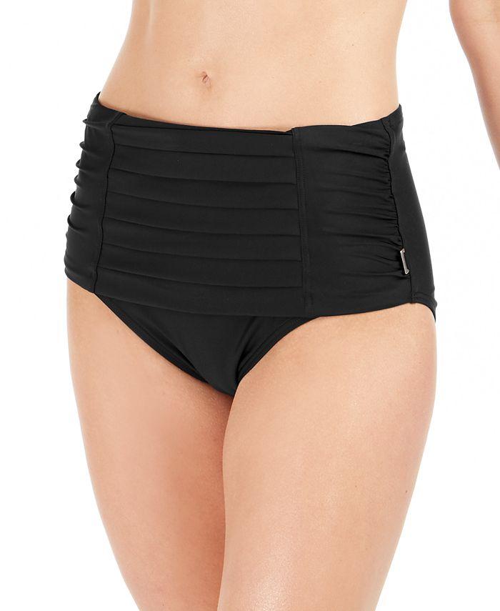 Calvin Klein - Pleated High-Waist Bikini Bottoms