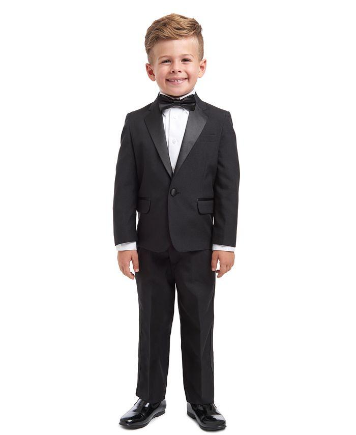 Nautica - Little Boys' 4-Piece Tuxedo Suit, Shirt & Tie