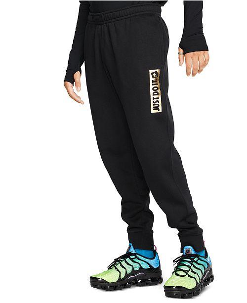 Nike Men's Just Do It Fleece Metallic Joggers & Reviews - All ...