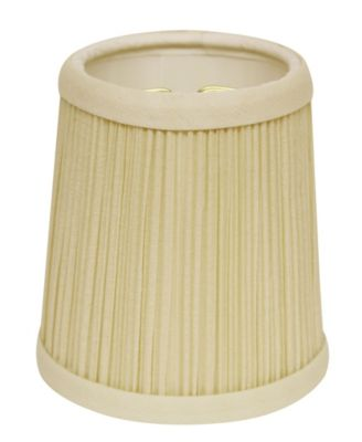 Cloth&Wire Slant Hardback Chandelier Lampshade with Flame Clip