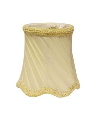 Cloth&Wire Slant Swirled Side Pleat Chandelier Lampshade with Flame Clip