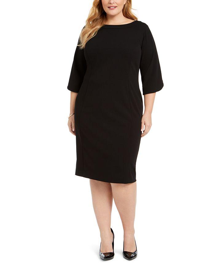 Calvin Klein - Plus Size Tulip-Sleeve Sheath Dress
