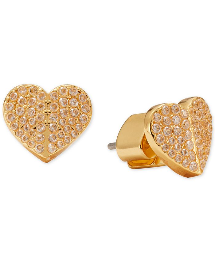 kate spade new york Pavé Heart Stud Earrings & Reviews - Earrings - Jewelry  & Watches - Macy's