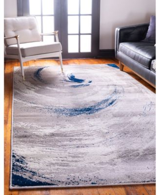 The Wave Jso003 Beige 5' x 8' Area Rug
