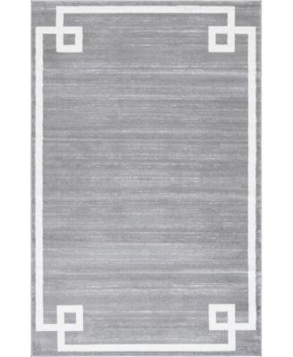 Lenox Hill Uptown Jzu005 Gray 8' x 8' Round Rug