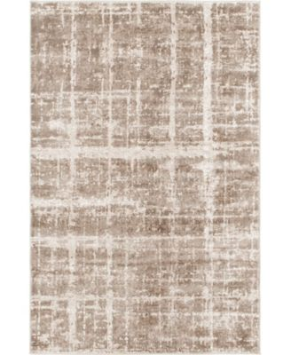 Lexington Avenue Uptown Jzu003 Light Brown 8' x 8' Round Rug