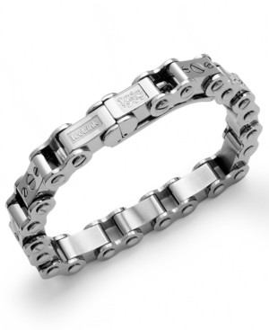 IceLink - Stainless Steel Bracelet, Large Bicycle Bracelet