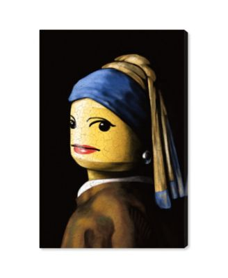 Toy with The Pearl Earring Canvas Art, 16
