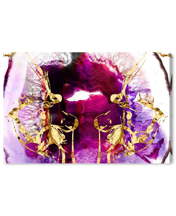 "Oliver Gal Smoking Agate Canvas Art, 36"" x 24"""