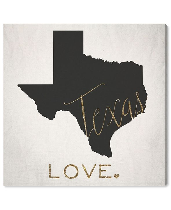 "Oliver Gal Texas Love Canvas Art, 24"" x 24"""