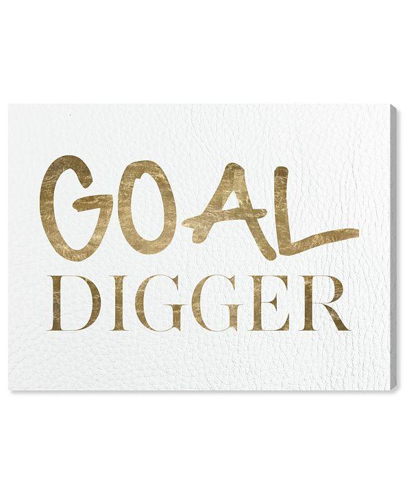 """Oliver Gal Goal Digger Canvas Art, 24"""" x 18"""""""