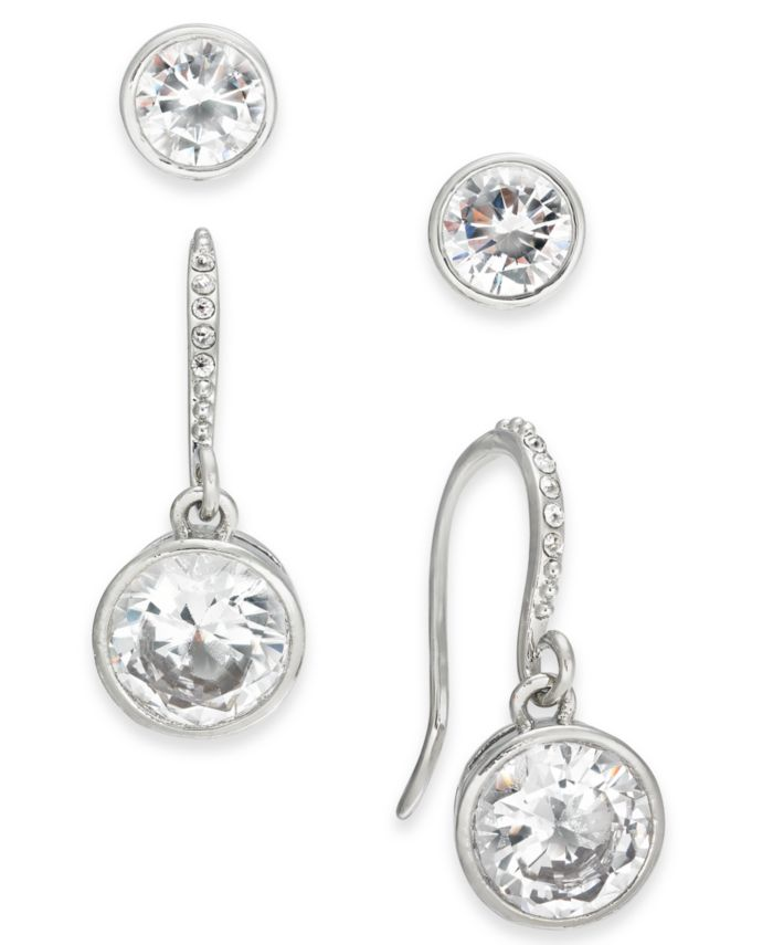 Alfani 2-Pc. Set Crystal Stud & Drop Earrings, Created for Macy's & Reviews - Earrings - Jewelry & Watches - Macy's