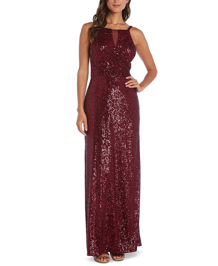 Nightway - Sequin Crossover Gown