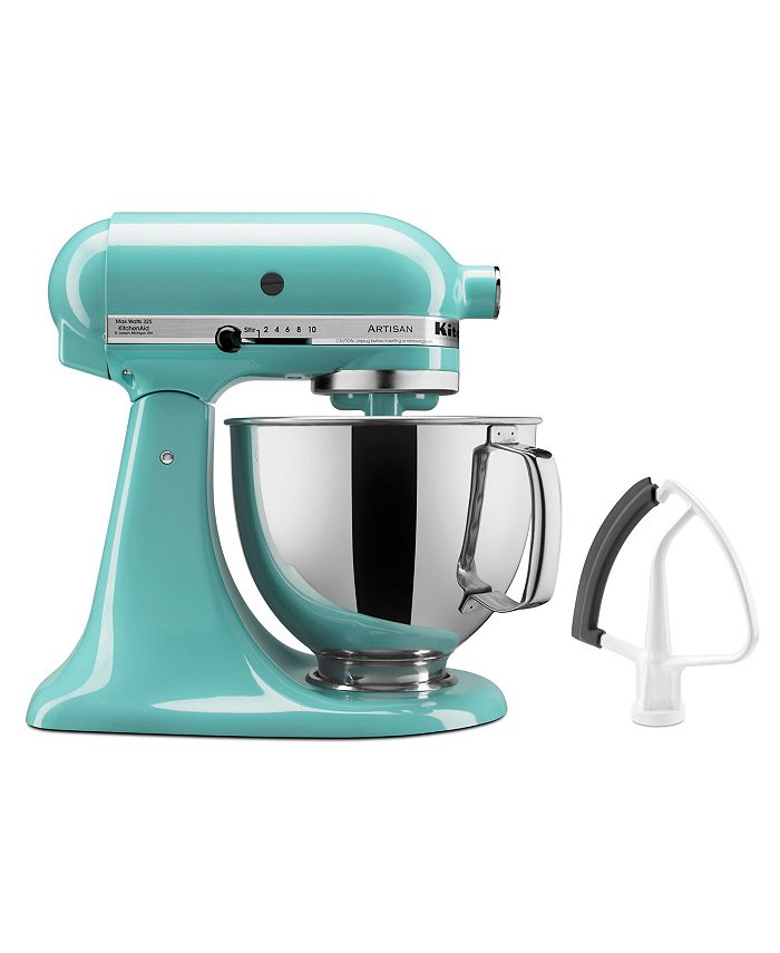 KitchenAid - Artisan Series Silver 5-Quart Tilt-Head Stand Mixer with Flex Edge Beater