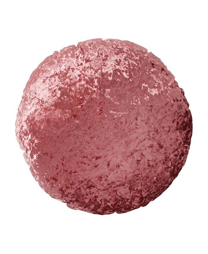 Peri Home - Round Crushed Velvet Macaron Decorativeorative Pillow