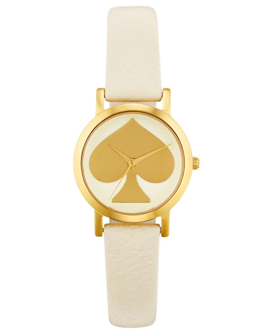 kate spade new york Watch, Womens Metro Mini White Leather Strap 24mm 1YRU0195   Watches   Jewelry & Watches