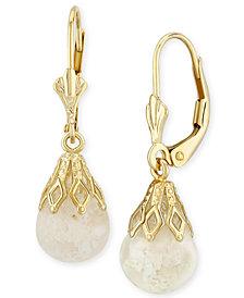 Floating Crushed Opal (1 ct. t.w.) Drop Earring in 14k Yellow Gold