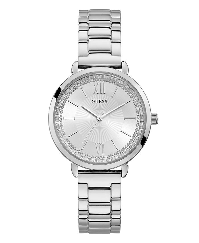 GUESS - Silver-Tone Stainless Steel Watch
