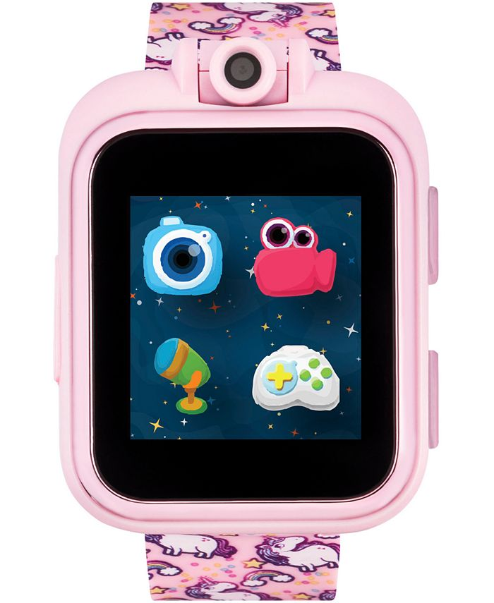 iTouch - Unisex PlayZoom Pink Unicorn Strap Touchscreen Smart Watch 42x52mm