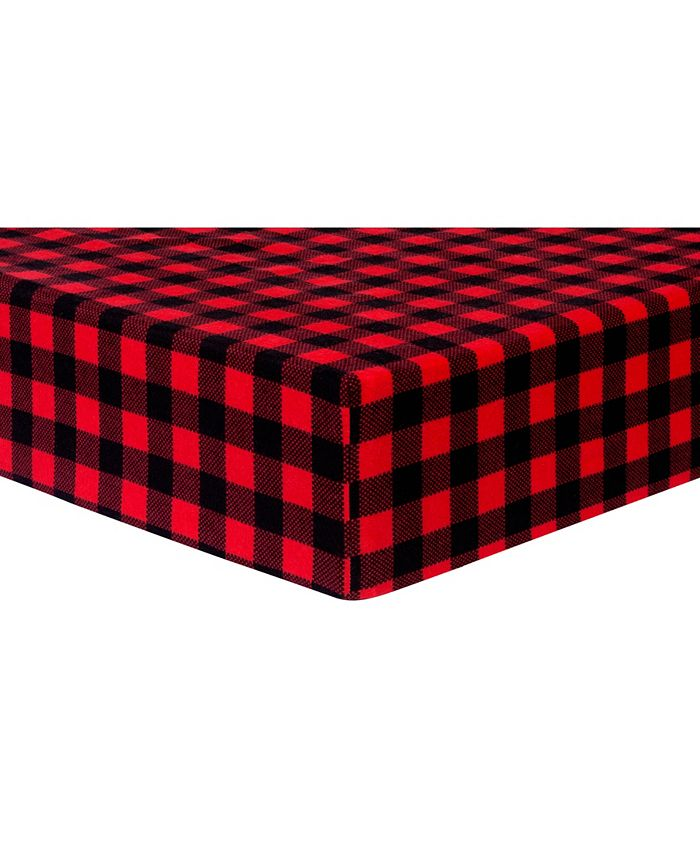 Trend Lab - Buffalo Check Flannel Crib Sheet