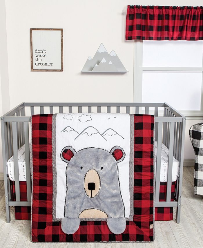 Trend Lab - Peak-a-Bear 3-Piece Crib Bedding Set