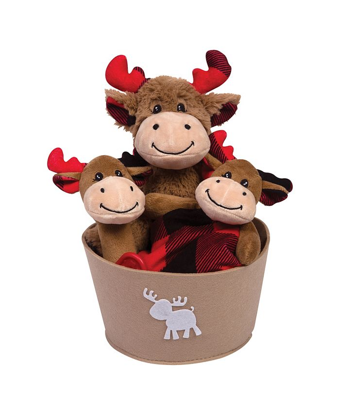 Trend Lab - Buffalo Check Moose 4-Piece Baby Gift Set