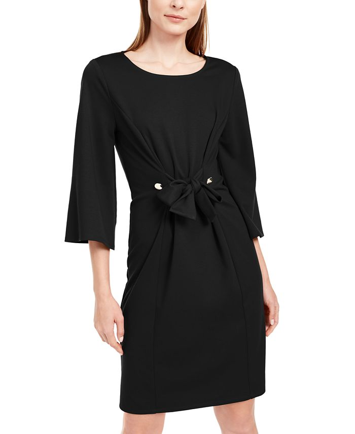 NY Collection - Petite Tie-Front Dress