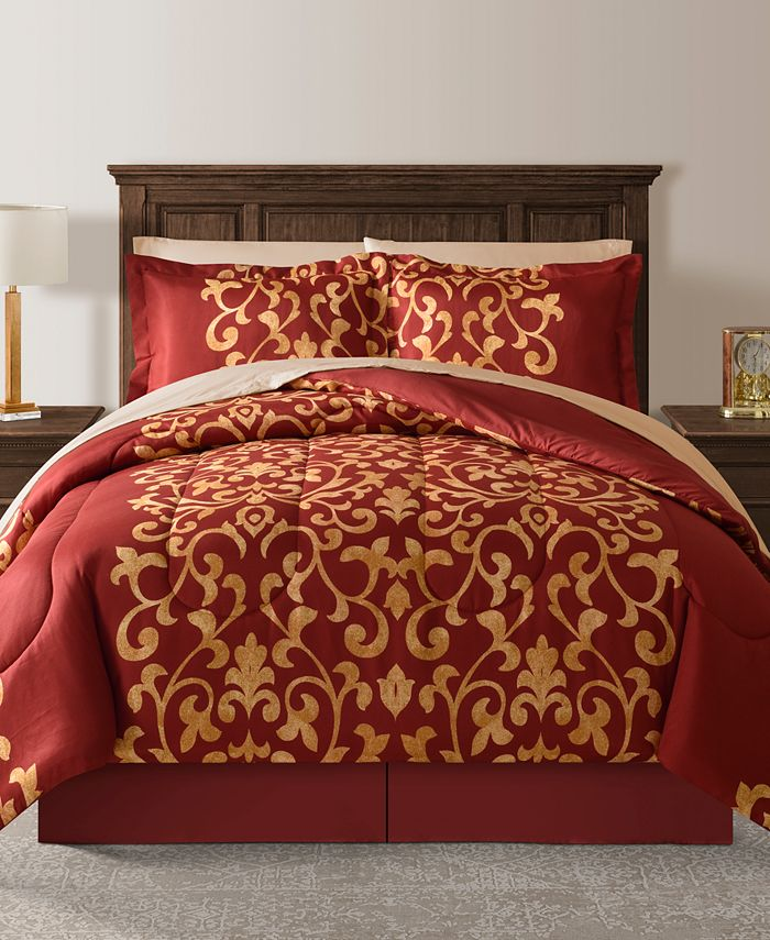 Fairfield Square Collection Palace Red, Red Queen Bed Set