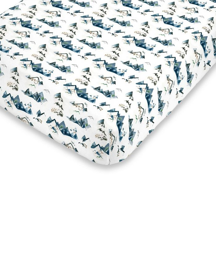 NoJo - Mountain Watercolor Fitted Crib Sheet