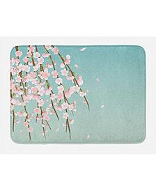 Ambesonne Weeping Flower Bath Mat