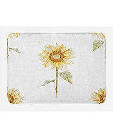 Ambesonne Sunflower Bath Mat